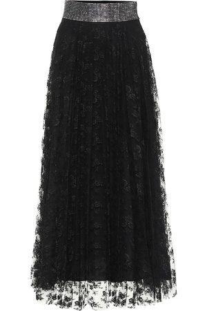 Christopher Kane Embellished lace midi skirt
