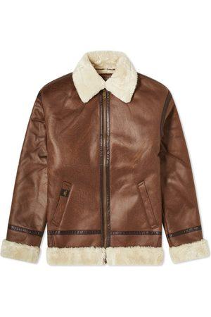 alpha industries Men Leather Jackets - B3 Faux Leather Flight Jacket