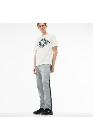 Lacoste Men's Live Contrast Bands Pleated Fleece Jogging Pants : /