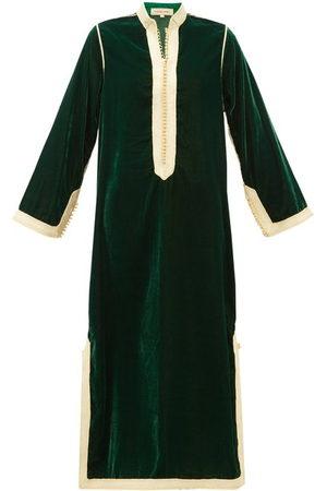 Muzungu Sisters Women Tunic Dresses - Alia Woven-trim Velvet Tunic Dress - Womens - Multi