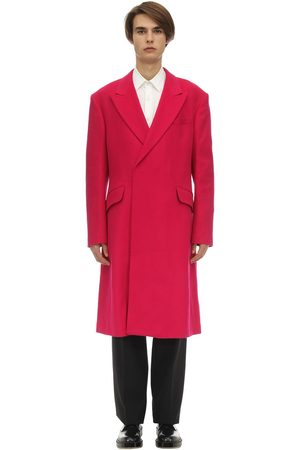 RAF SIMONS Men Coats - Virgin Wool & Cashmere Coat