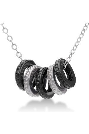 SuperJeweler Black & Diamond Ring Necklace