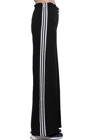 adidas High Waist Cotton & Jersey Trousers