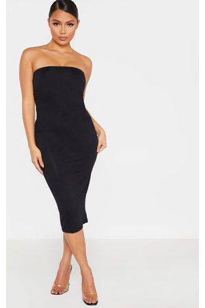 PRETTYLITTLETHING Women Casual Dresses - Petite Bandeau Jersey Midi Dress