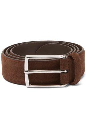 Anderson's Buckled Suede Belt - Mens - Dark