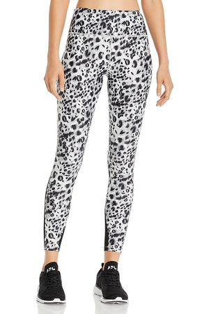 Urban Savage Mesh-Inset Leopard Print Leggings