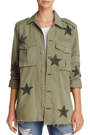 Pistola Camilo Star Print Military Jacket