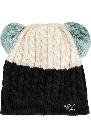 Emporio Armani Kids Pompom knit beanie