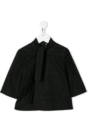 SEÑORITA LEMONIEZ Velvet plumetti blouse