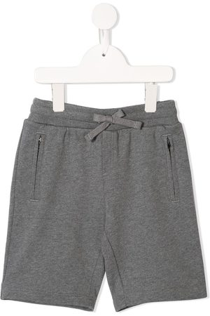 Dolce & Gabbana Logo patch track shorts - Grey