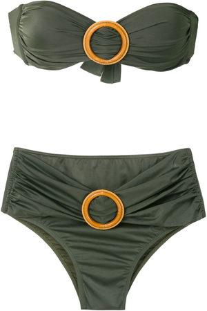 Brigitte Women Bikinis - Buckled bandeau bikini set