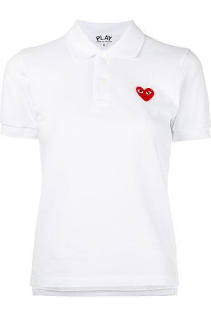 Comme des Garçons Women Polo Shirts - Heart patch polo shirt