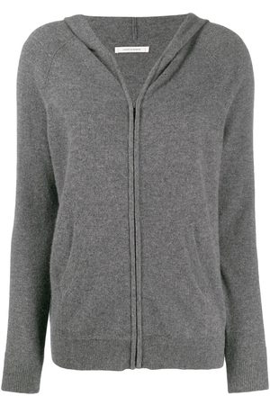 Chinti And Parker Zip-up cashmere hoodie - Grey