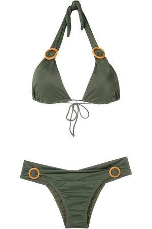Brigitte Women Bikinis - Ring-embellished bikini set
