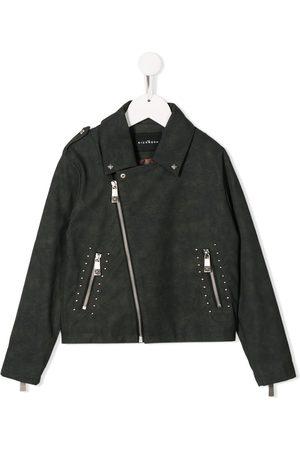 John Richmond Junior Boys Bomber Jackets - Studded biker-style jacket - Grey
