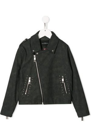 John Richmond Junior Studded biker-style jacket - Grey