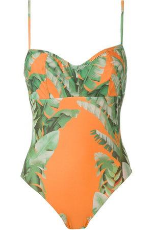 AMIR SLAMA Floral print swimsuit