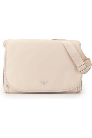 Emporio Armani Logo plaque shoulder bag - Neutrals