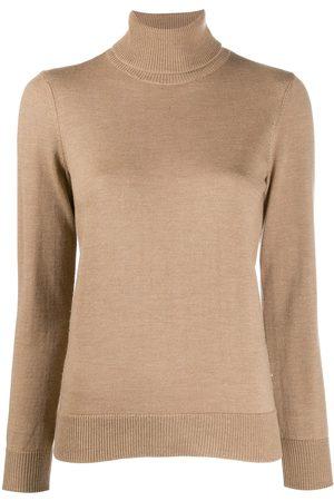 A.P.C Roll neck fine knit jumper - NEUTRALS