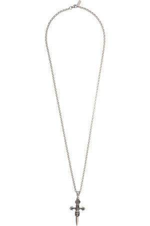 Nialaya Men Necklaces - Cross pendant necklace - Metallic