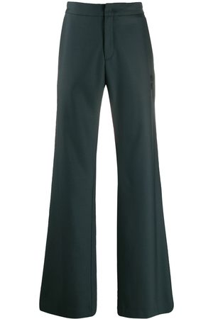 OFF-WHITE Wide leg tailored trousers - Grey