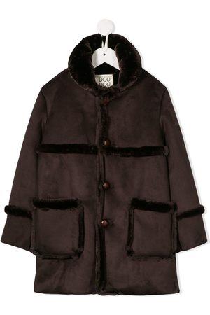 DOUUOD KIDS Faux-fur single-breasted coat