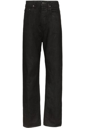 Rick Owens Men Relaxed Fit - Waxed cotton jeans