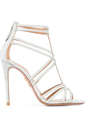 Aquazzura Strappy glittery sandals