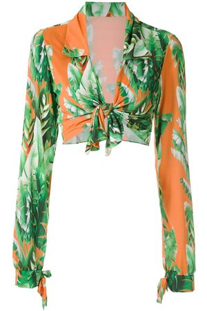 AMIR SLAMA Printed crop top