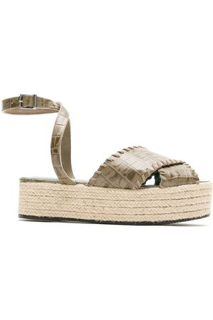 Blue Bird Cruzada crocodile effect espadrilles - Grey