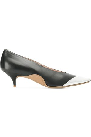 Nº21 Tri-coloured kitten heel pumps
