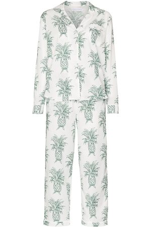 Desmond & Dempsey Howie pineapple-print cotton pyjama set