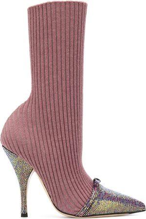 MARCO DE VINCENZO Women Heels - Sock-style stiletto boots