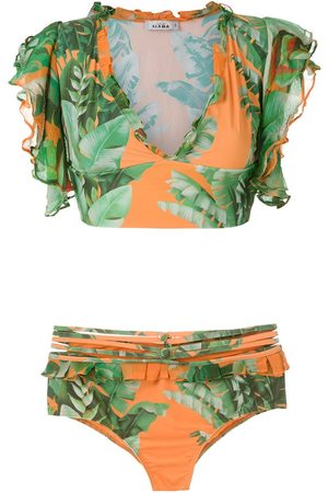 AMIR SLAMA Printed crop top bikini set