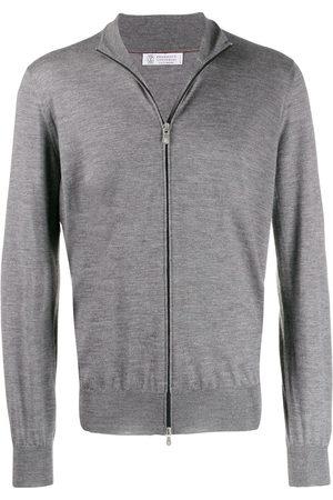Brunello Cucinelli Zip-up knit sweater - Grey