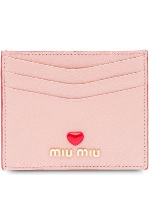 Miu Miu Madras love logo card holder