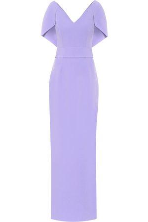 Safiyaa Crêpe cape gown
