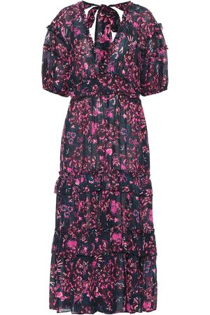 ULLA JOHNSON Amora floral cotton-blend dress