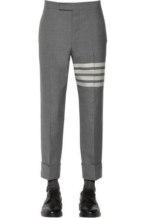 Thom Browne Men Pants - Classic Wool Pants W/stripes