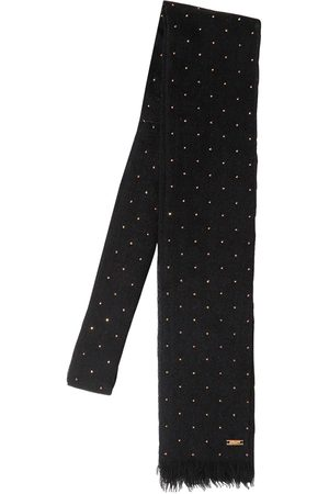 Saint Laurent Small Studded Wool Tie