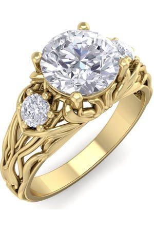 SuperJeweler 1 3/4 Carat Round Shape Diamond Intricate Vine Engagement Ring in 14K (5.50 g) (