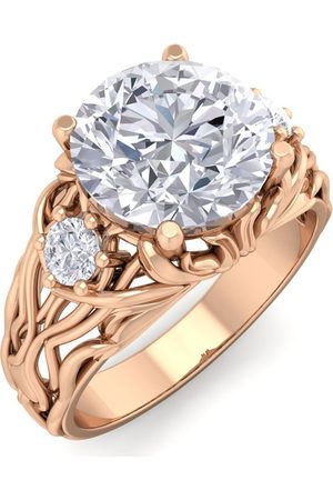SuperJeweler 3 1/4 Carat Round Shape Diamond Intricate Vine Engagement Ring in 14K (7 g) (