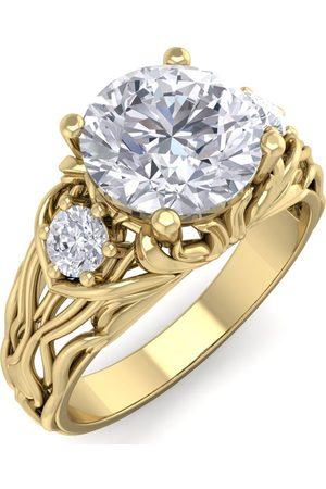 SuperJeweler 2 1/4 Carat Round Shape Diamond Intricate Vine Engagement Ring in 14K (6 g) (