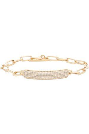 Lizzie Mandler Od Id Diamond & 18kt Nameplate Bracelet - Womens