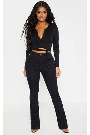 PRETTYLITTLETHING Shape Stretch Denim Flared Jean