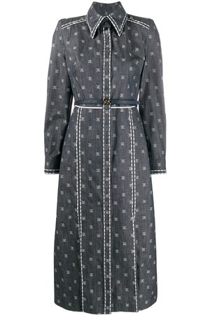 Fendi Karligraphy motif shirt dress
