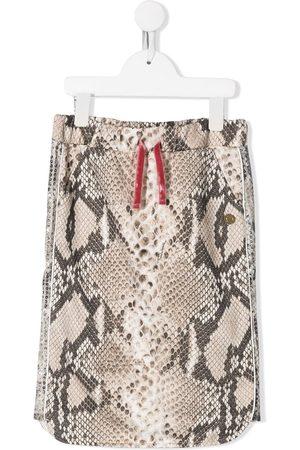 Roberto Cavalli Snakeskin print skirt - NEUTRALS