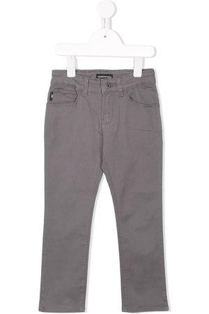 Emporio Armani Kids Stretch slim-fit jeans - Grey