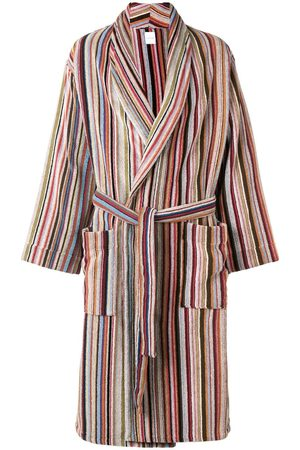 Paul Smith Men Bathrobes - Striped belted bathrobe - Multicolour