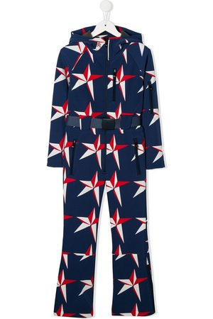 Perfect Moment Girls Jumpsuits - Star print hooded jumpsuit